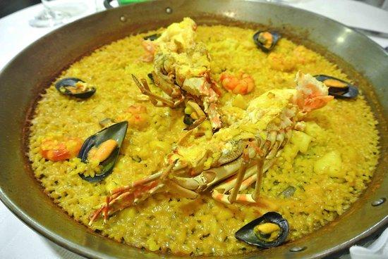 Civera Marisquerias : Spiny Lobster Paella