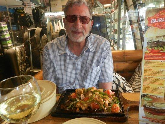 Tiki Limbo: Lots of greens and chicken