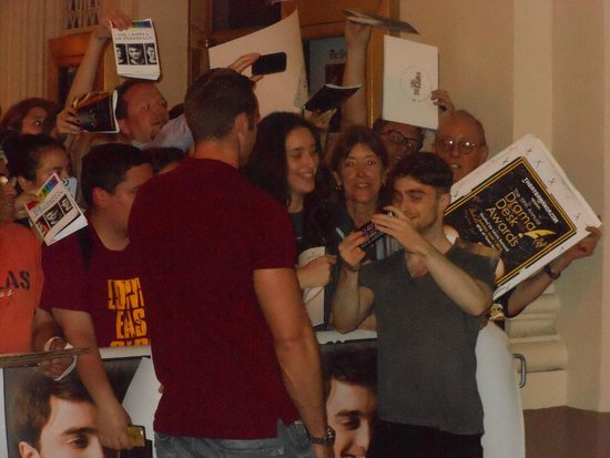 Cort Theatre: Daniel Radcliffe after the show