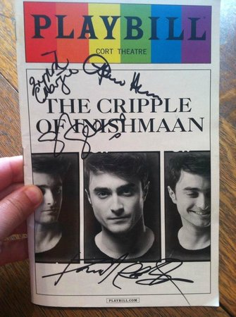 Cort Theatre: my (signed!) Playbill