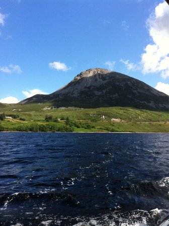 Dunlewey, Irlandia: View from the boat trip.