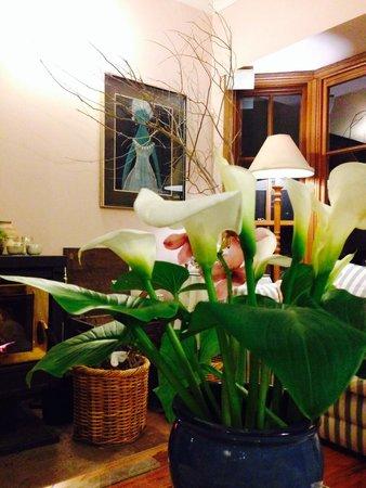 Trellises Guest House: Having dinner in the lounge