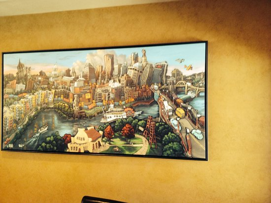 Iven's on the Bay: Local artist did this scene of St. Paul