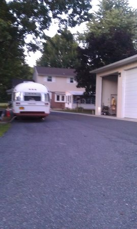 Timberlane Campground: Camper with no site, so they made them park in the street.