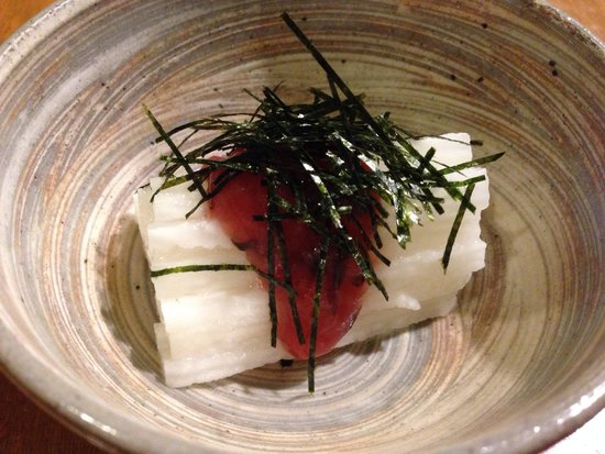 Hanamizuki: Yamaimo Bainiku Ae ( sliced yam with sour plum paste )