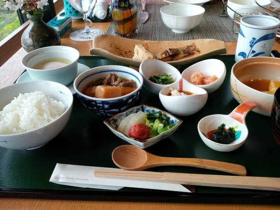 Garden Terrace Nagasaki Hotels & Resorts: Japanese-style breakfast (Western option also available)