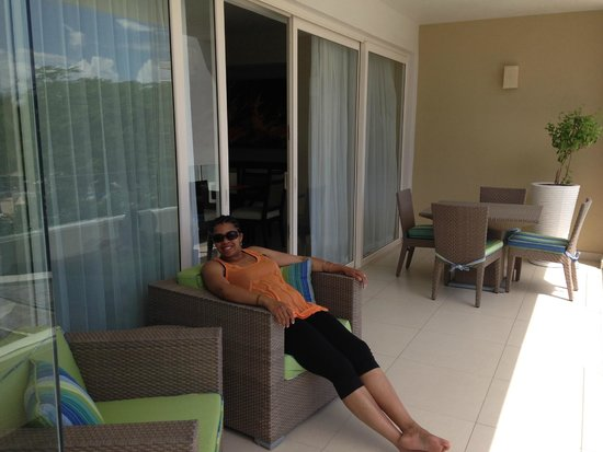 Marival Residences Luxury Resort : balcony room 212