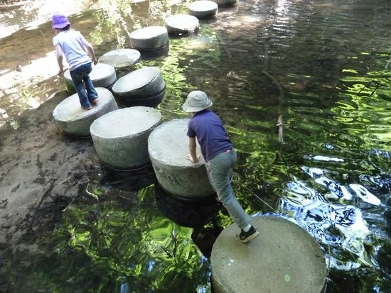 Matthiessen State Park: Stepping stones over the stream