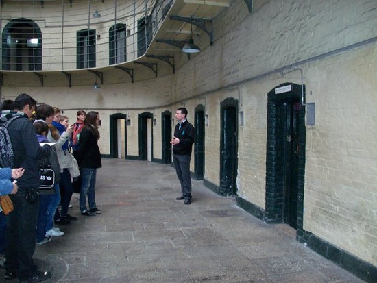 Kilmainham Gaol: Our tour guide @ Kilmainham Goal.