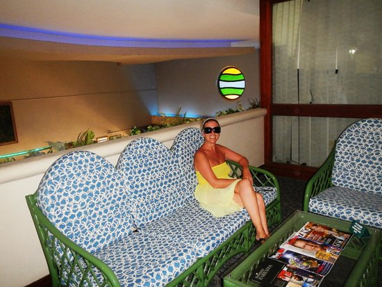 Accra Beach Hotel & Spa: on a landing in the hotel