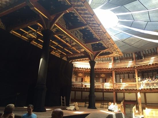Shakespeare's Globe Theatre: stage and some seating