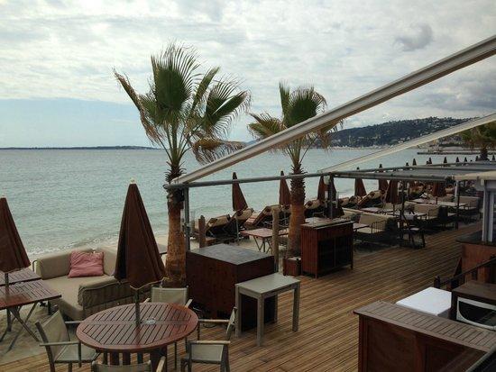 Bijou Plage : vue sur la terrasse