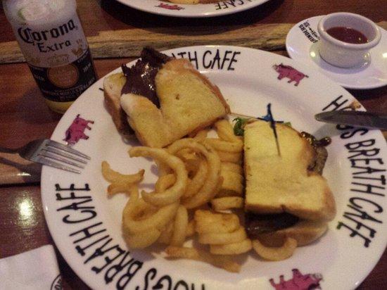 Hog's Breath Cafe: Grilled steak sandwich $15