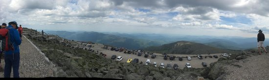 The Mount Washington Cog Railway: Panoramic View from the top