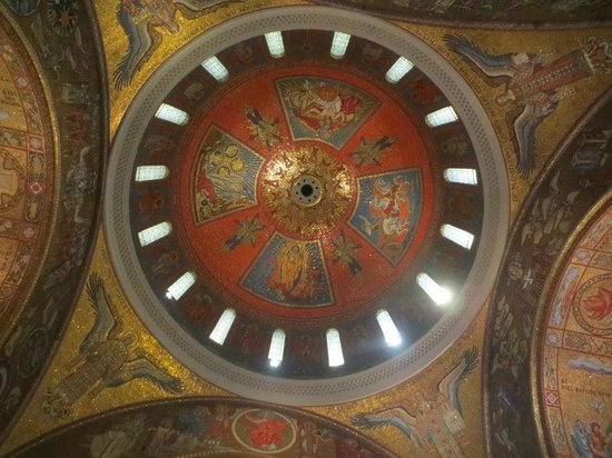 Cathedral Basilica of Saint Louis: Central Dome - dedicated to the Holy Trinity, Ezeckial receiving the word of God, woman of the A
