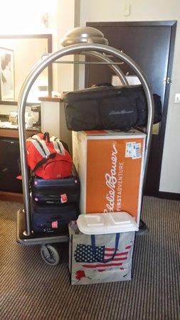 Hyatt Place Atlanta Airport - South: fui mi propio bellboy -*-