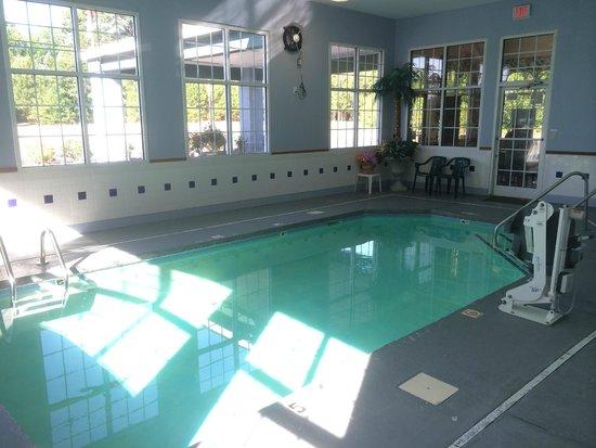 Super 8 Fayetteville: Pool facing road