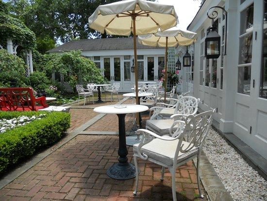 The Inn at Little Washington: Outside Terrace and Koi Pond