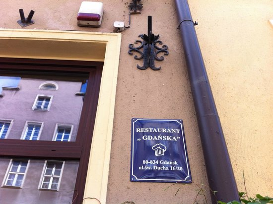 Restauracja Gdanska : Here is the address. Easy to find and definitely worth it!