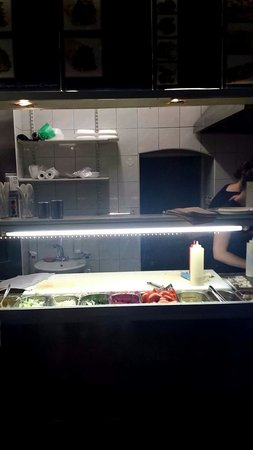 Falafel: The place where the staff works