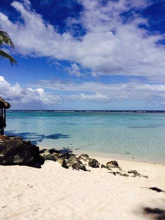 The Rarotongan Beach Resort & Spa: View from the beach at The Rarotongan