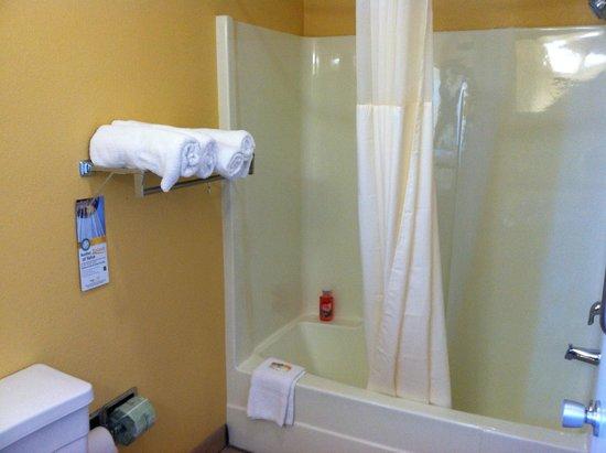 Quality Inn: large clean bathroom