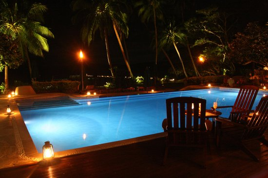 Jean-Michel Cousteau Resort: Serenity Pool by night
