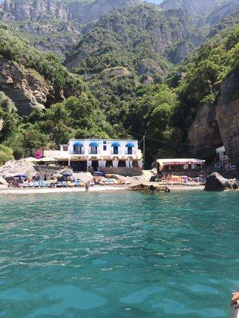 Da Adolfo: View as you approach the beach