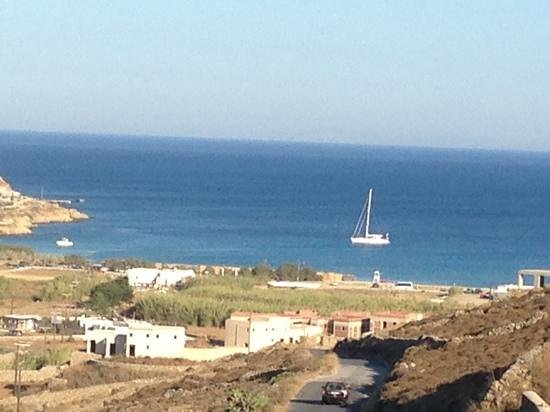 Seaside Studios & Houses: Kalo Livadi-the view coming down the hill