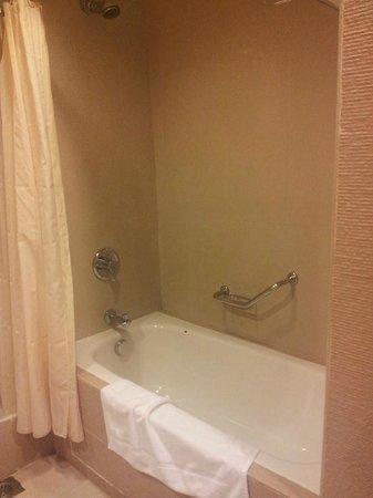 Swiss Garden Beach Resort Kuantan: Standing Shower Inside Bath Tub