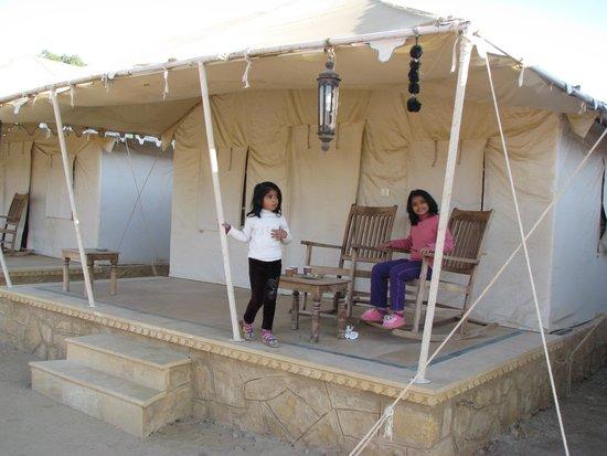 Mahadev Resort view of tent & luxury tents - Picture of Mahadev Resort Jaisalmer - TripAdvisor