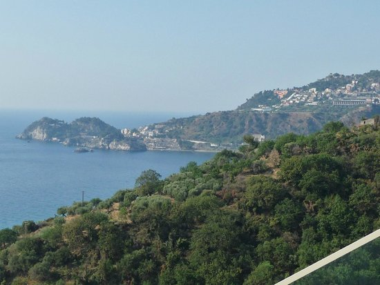 Hotel Antares: View from hotel to Taormina
