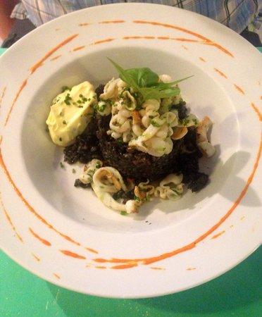 conTenedor: Black rice with squid