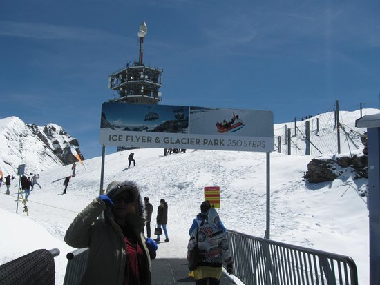 Mount Titlis: at the fifth level