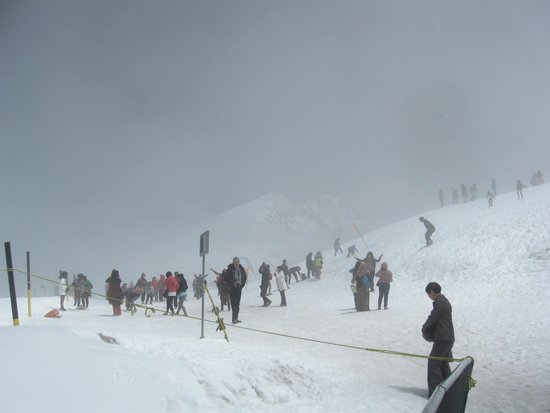 Mount Titlis: playing in the snow