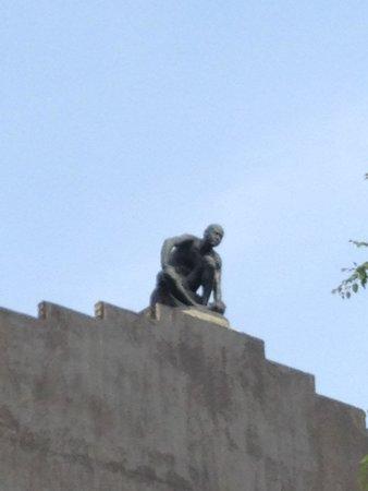 Asakura Choso Museum: 屋根の上からの出迎え!