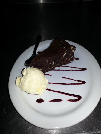 The Plaice Restaurant: Gooey Chocolate & Hazelnut Brownie