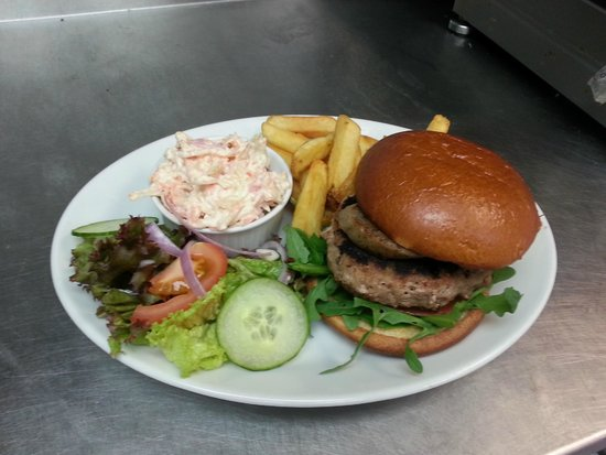 The Plaice Restaurant: Pork, Sage & Apple Burger with Hog's Pudding