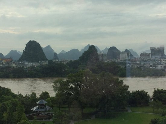 Shangri-La Hotel Guilin: View from 6th floor lounge