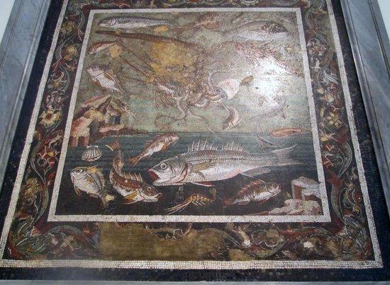 Musée archéologique national de Naples : ポンペイ出土品:魚の絵画
