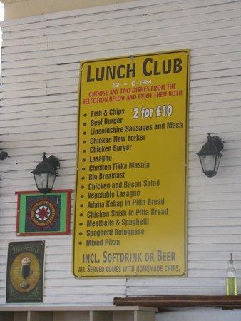 Family Door: Cheap Lunch Club Menu