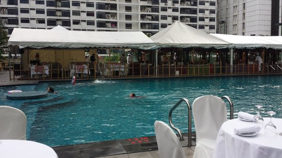 Swimming pool during ramadan period picture of jw for Period hotel