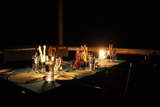 Sango Safari Camp : Private dinner
