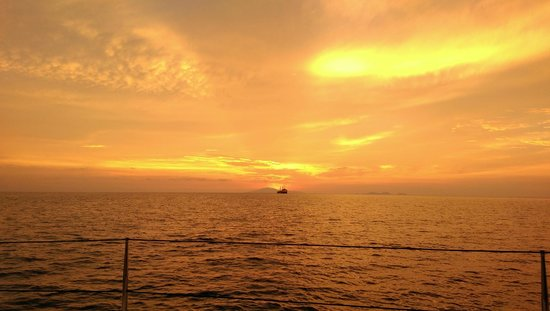 The Andaman, A Luxury Collection Resort: The Sunset from our cruise, it left from the beach right at the Andaman