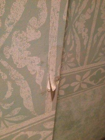 Grand Hotel Arenzano: Tappezzeria rovinata