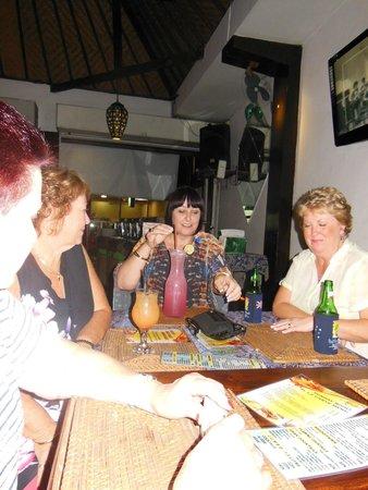 Bali Beach Shack: our table