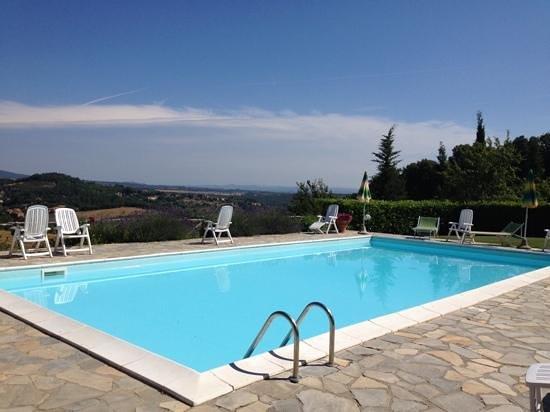Casa Podere Monti : podere Monti pool view