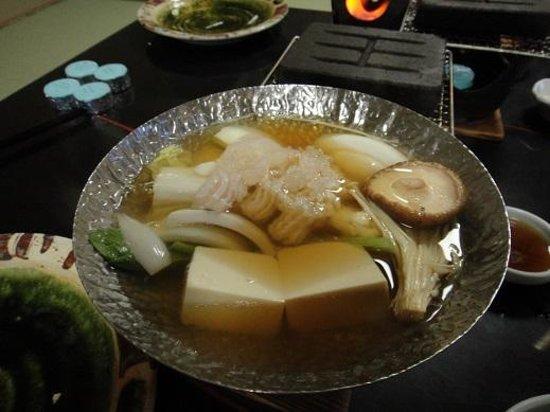 Hotel New Awaji : 夕食(鱧すき鍋)