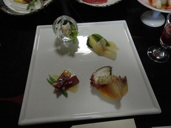Hotel New Awaji : 夕食(オードブル)