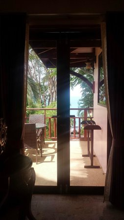 Sandalwood Luxury Villas: Latree balcony.  You stay at the Latree if you check in early / check out late.